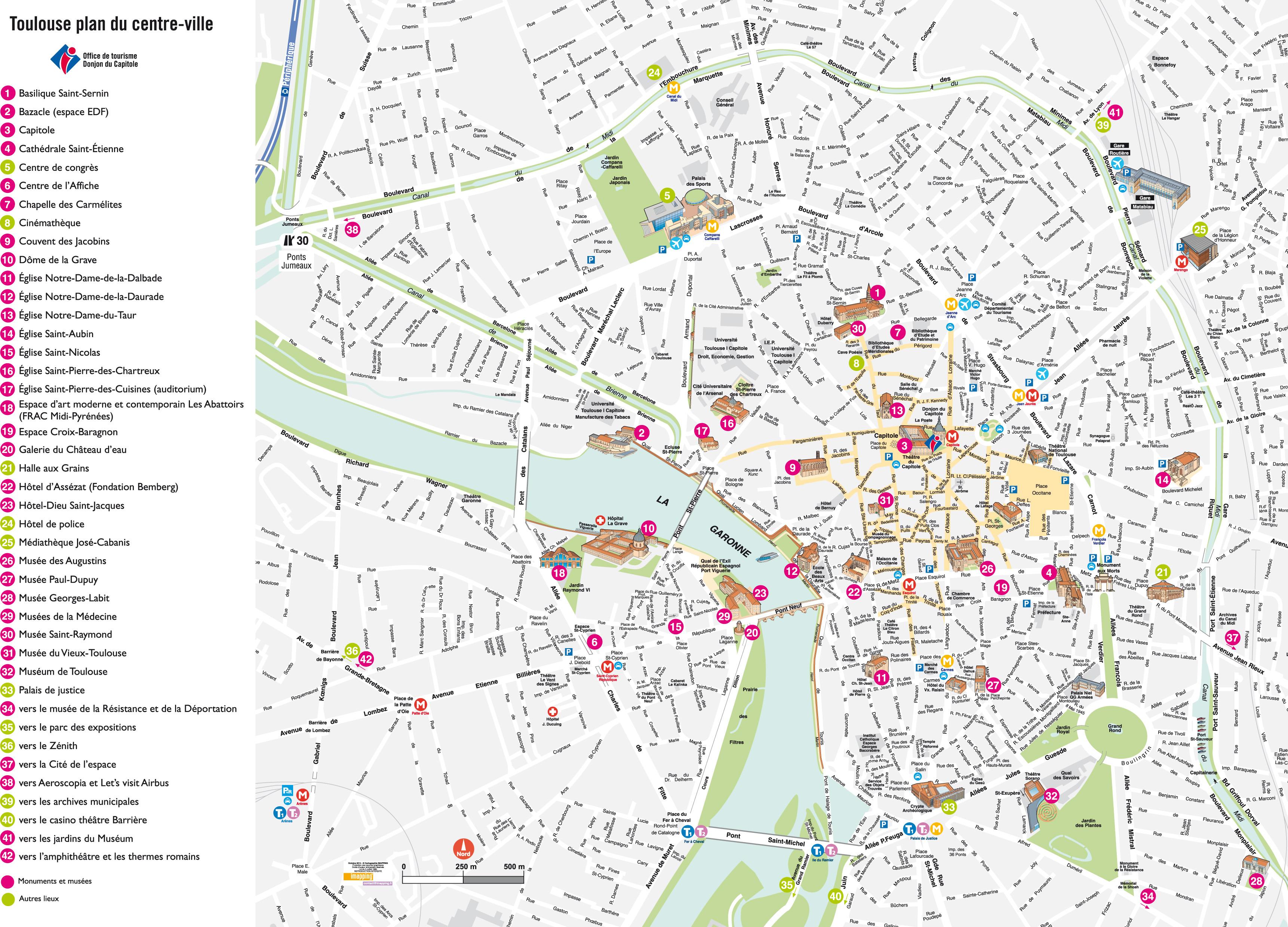 Plan Visite De Toulouse
